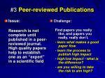 3 peer reviewed publications