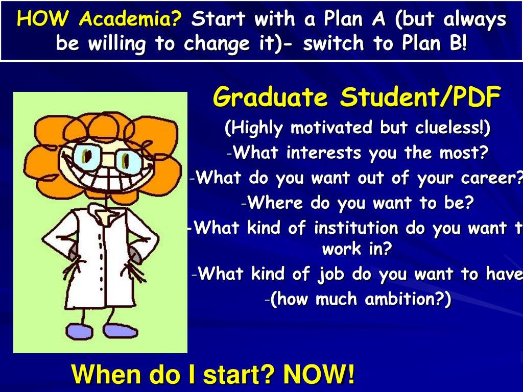 HOW Academia?