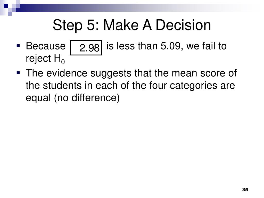 Step 5: Make A Decision