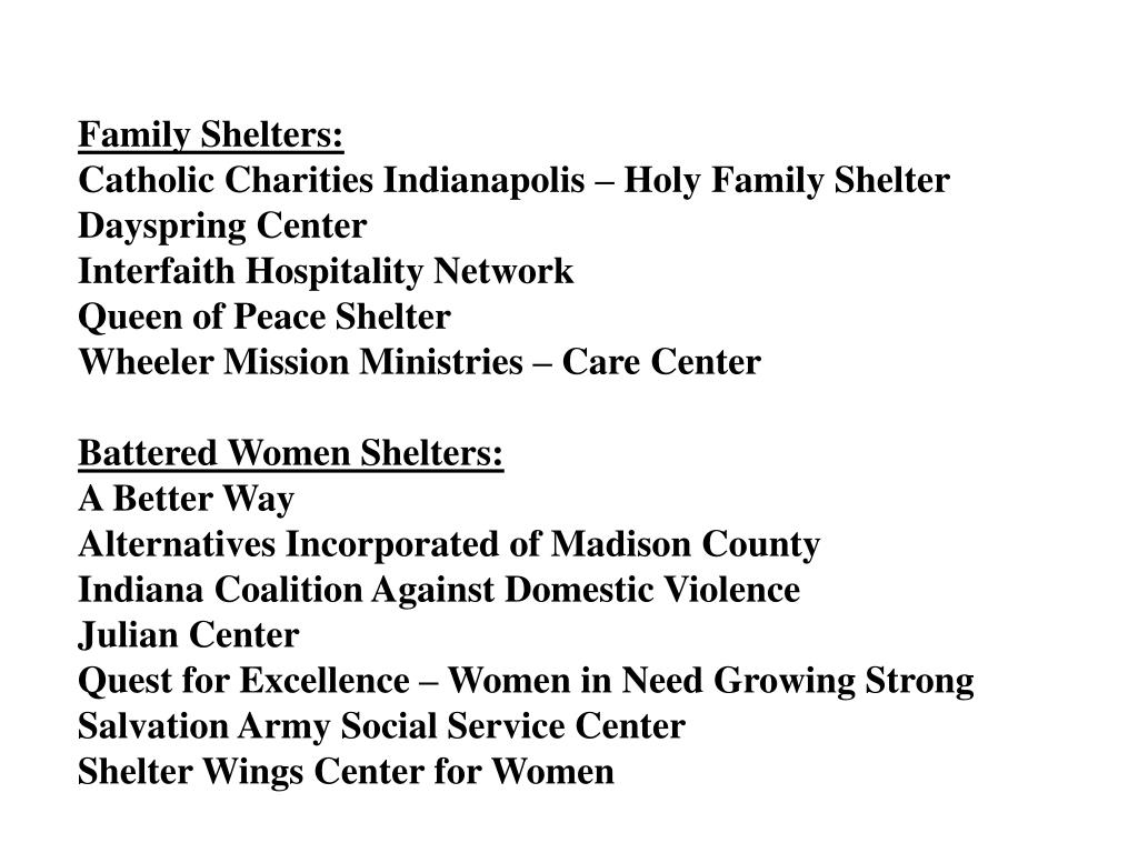 Family Shelters: