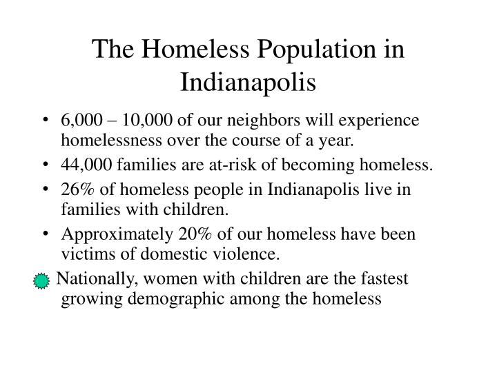 The homeless population in indianapolis l.jpg