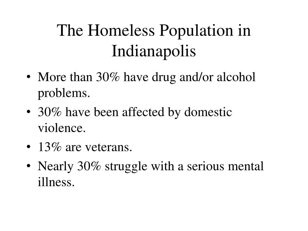 The Homeless Population in Indianapolis