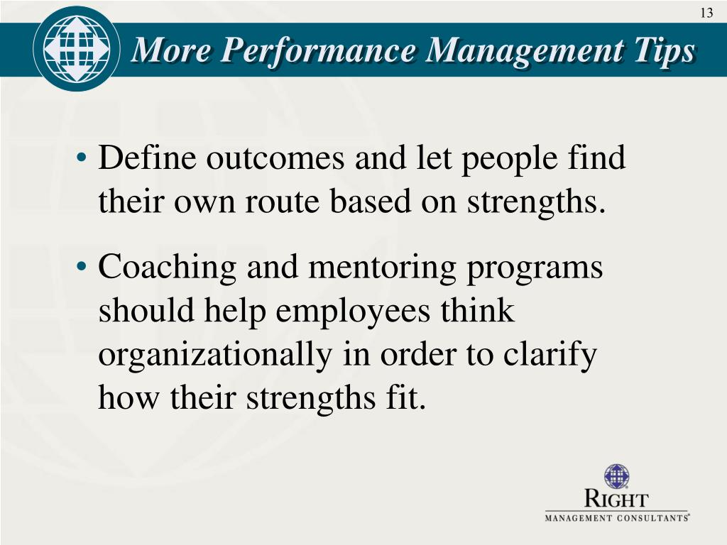 More Performance Management Tips