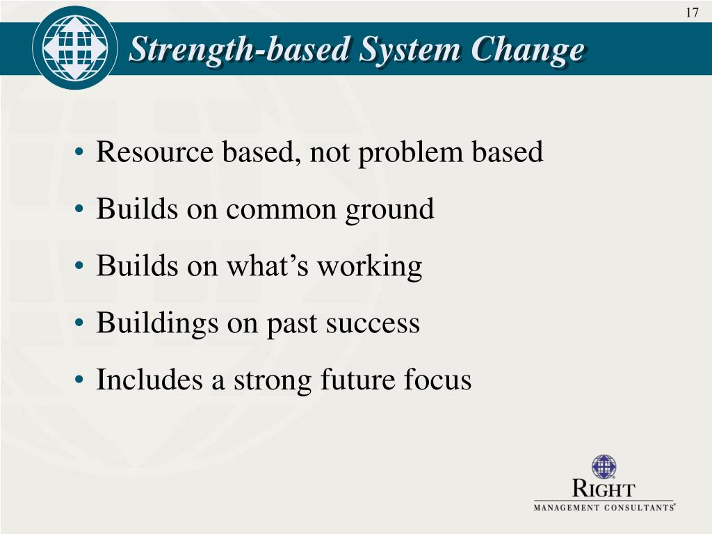Strength-based System Change