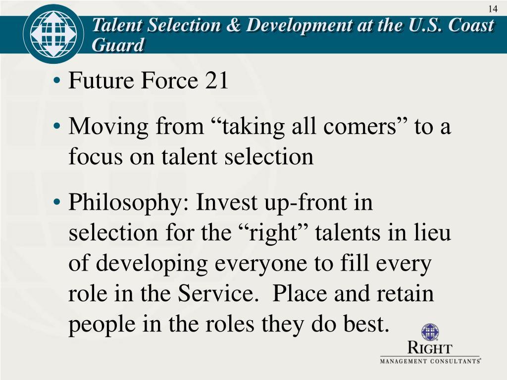Talent Selection & Development at the U.S. Coast Guard