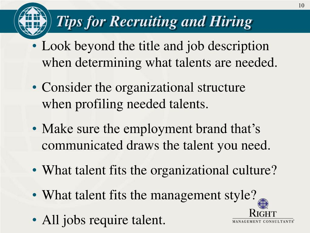 Tips for Recruiting and Hiring
