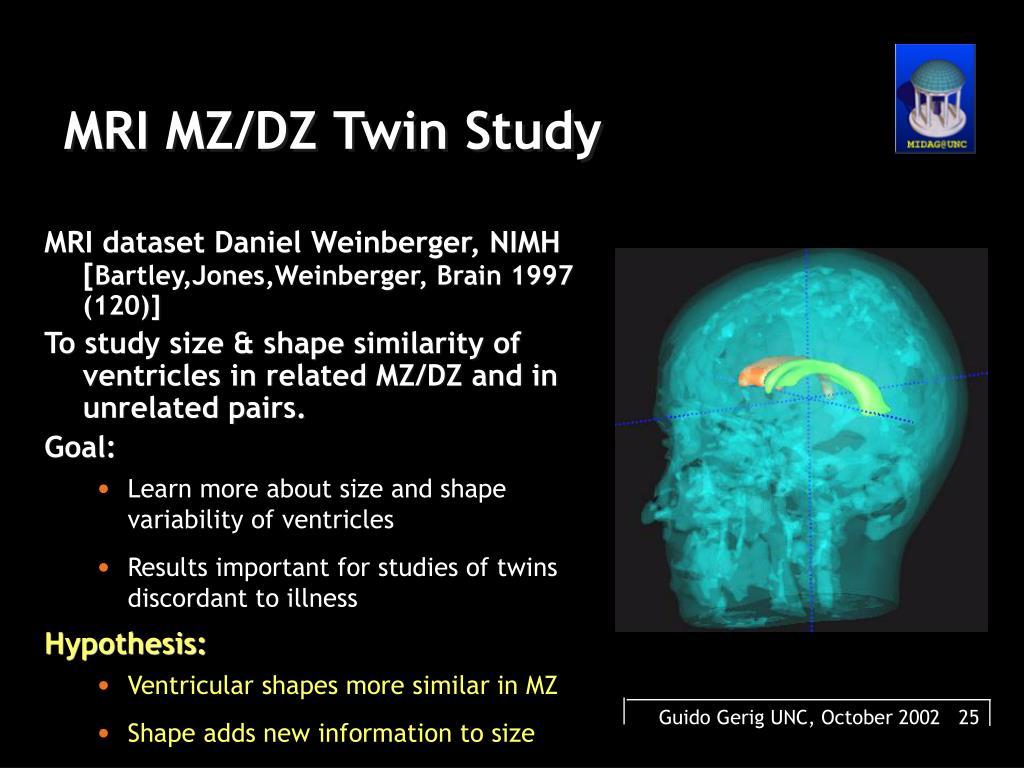 MRI MZ/DZ Twin Study