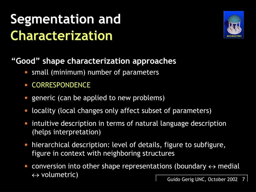 Segmentation and