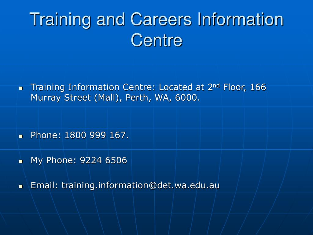 Training and Careers Information Centre