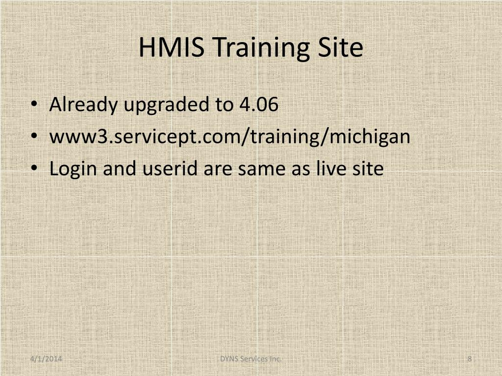 HMIS Training Site