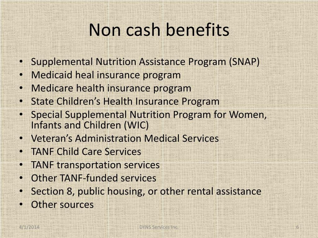 Non cash benefits