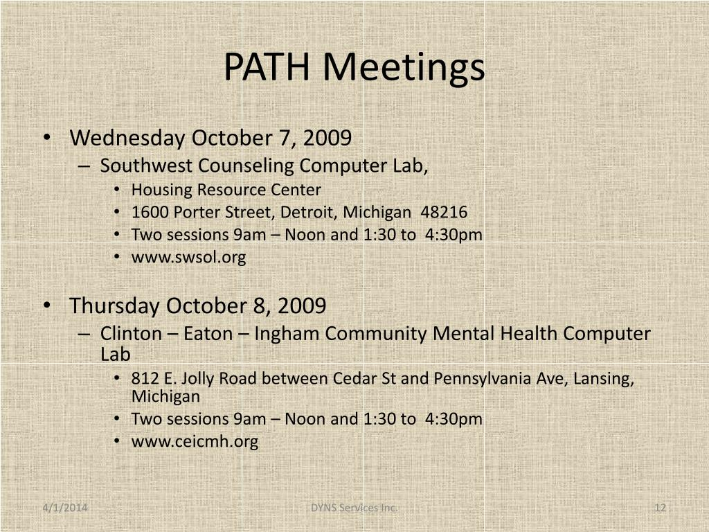 PATH Meetings