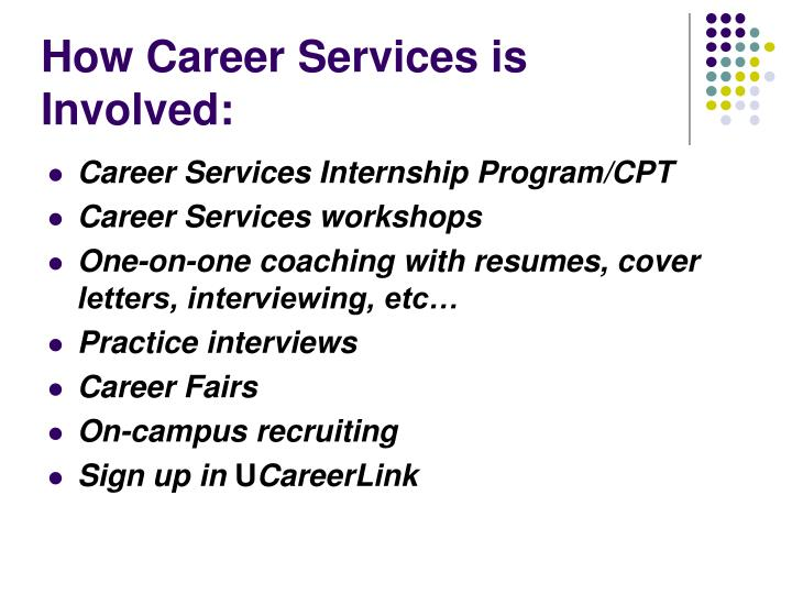 How career services is involved