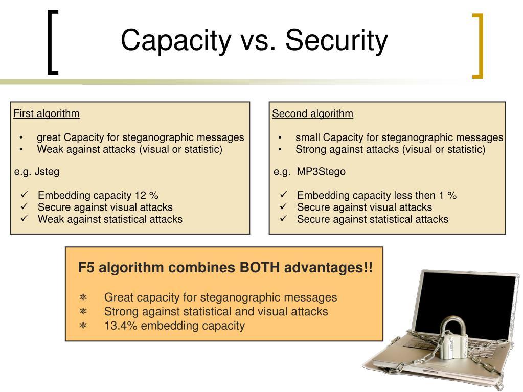 Capacity vs. Security