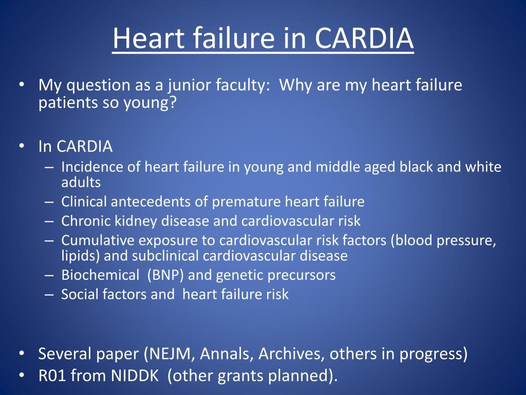 Heart failure in CARDIA