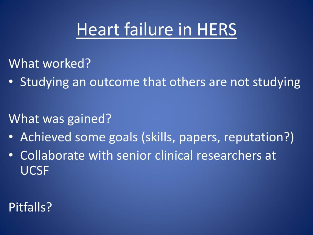 Heart failure in HERS