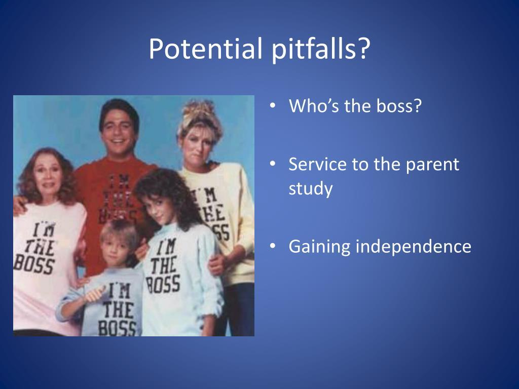 Potential pitfalls?