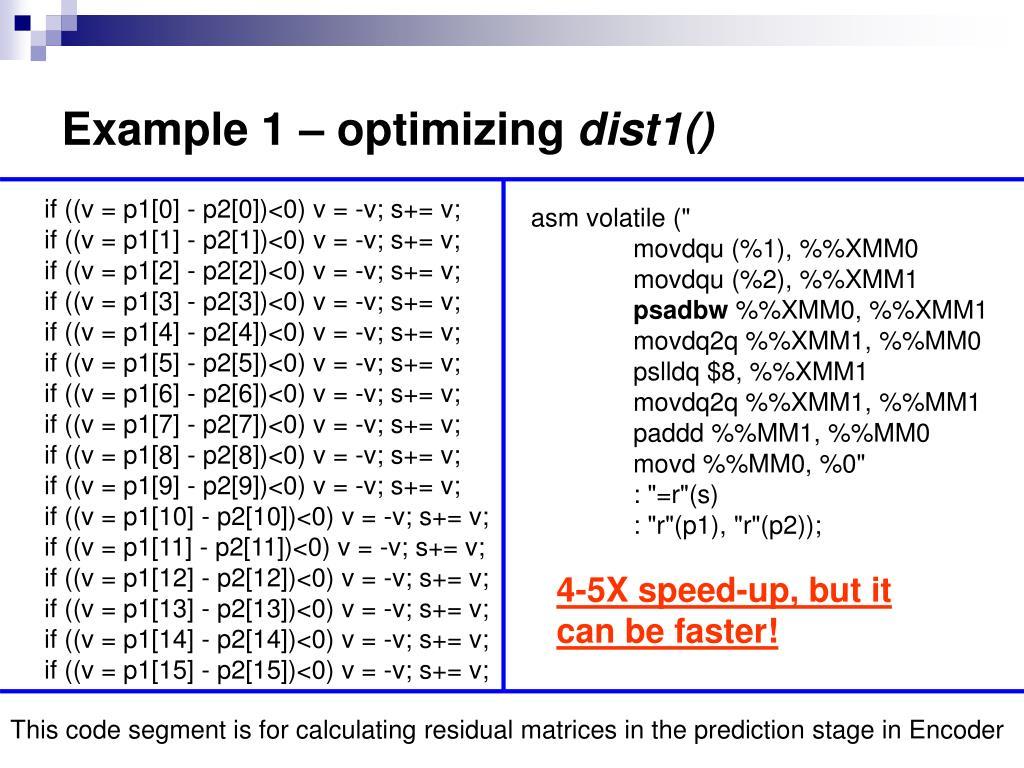 Example 1 – optimizing