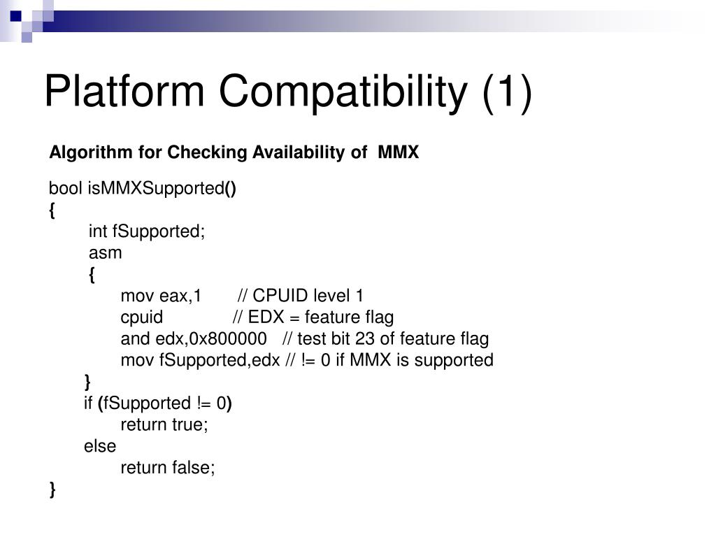 Platform Compatibility (1)