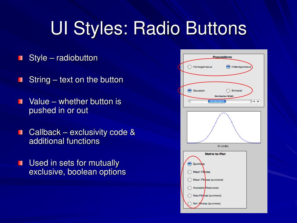 UI Styles: Radio Buttons