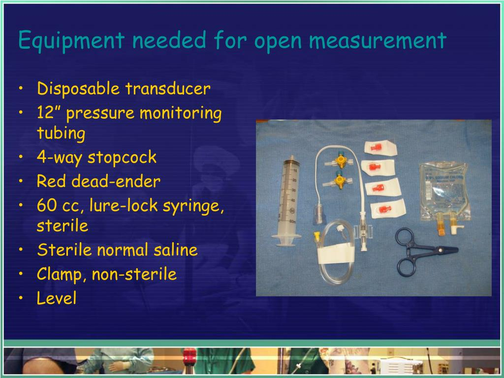 Equipment needed for open measurement