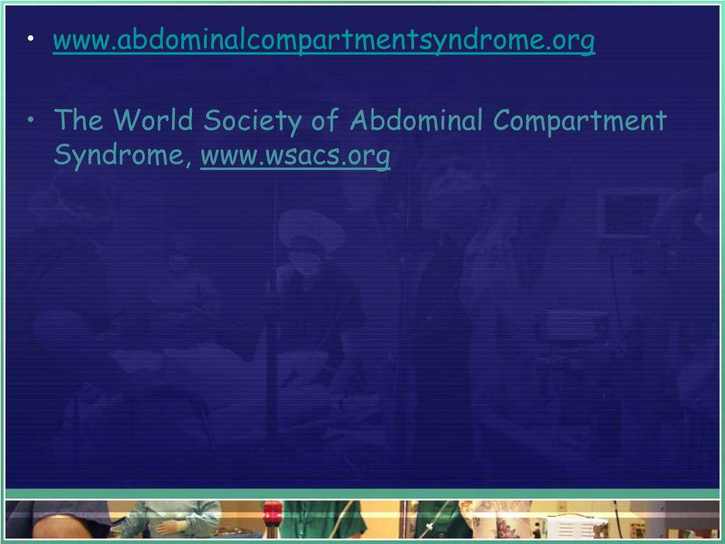 www.abdominalcompartmentsyndrome.org