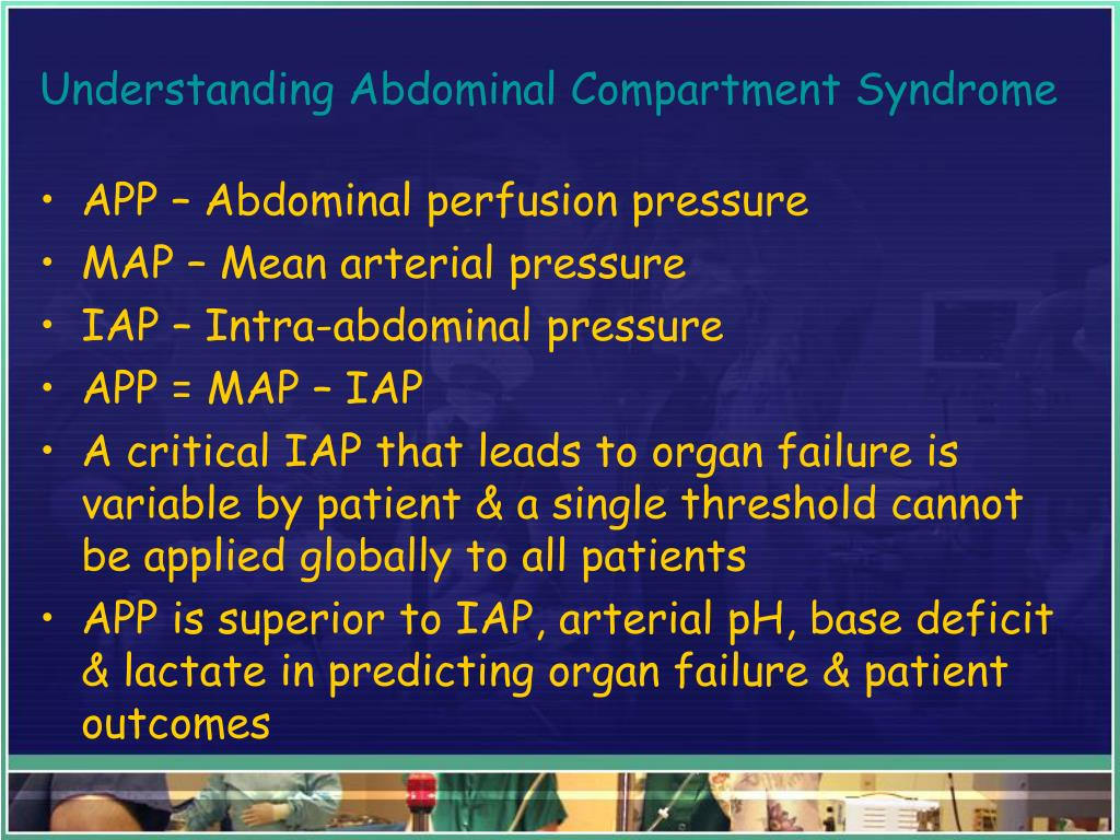Understanding Abdominal Compartment Syndrome