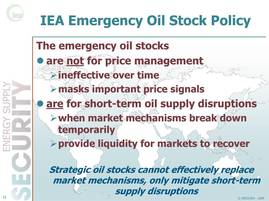 IEA Emergency Oil Stock Policy