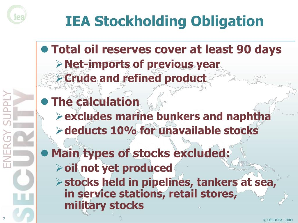 IEA Stockholding Obligation