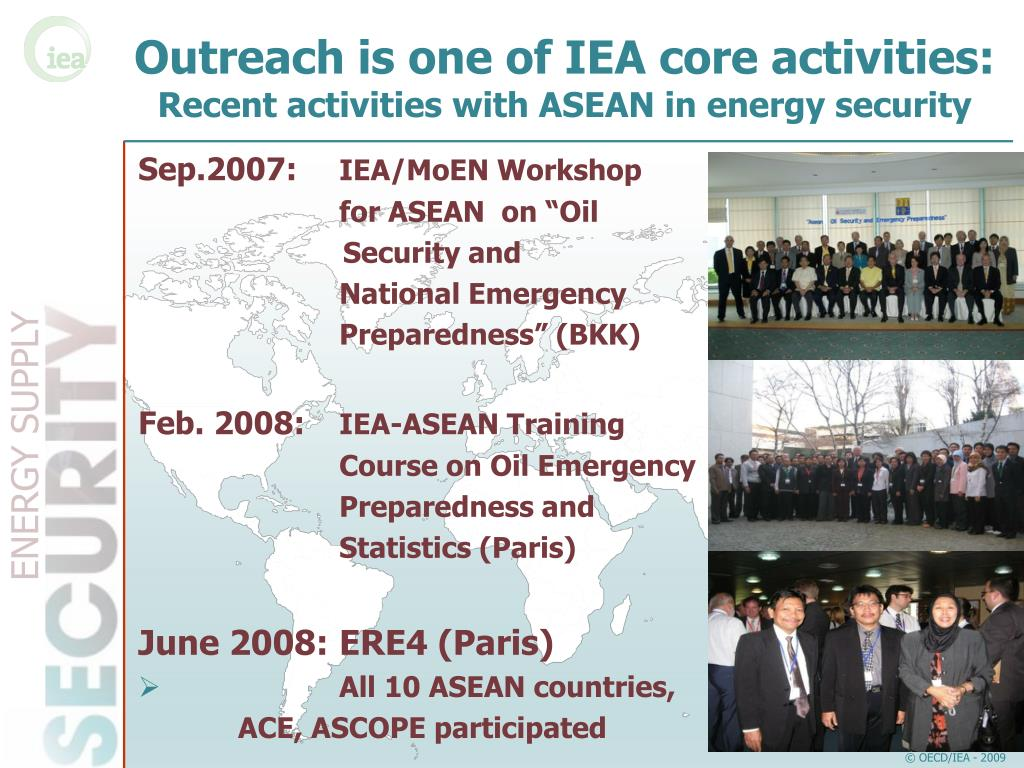 Outreach is one of IEA core activities: