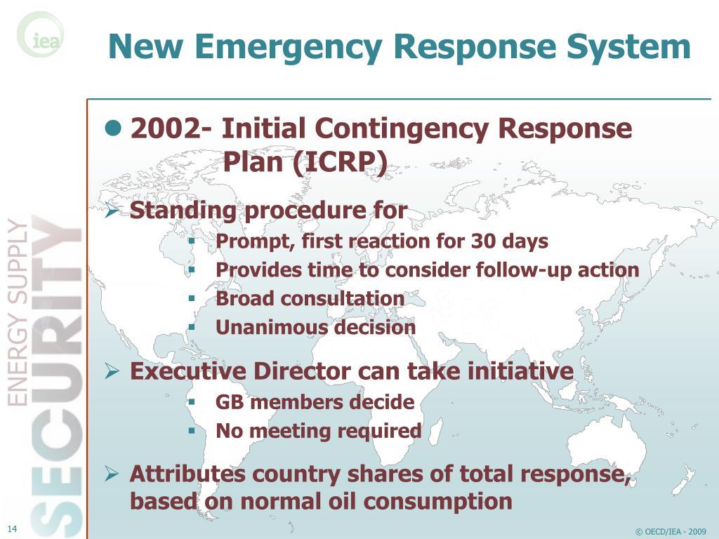New Emergency Response System
