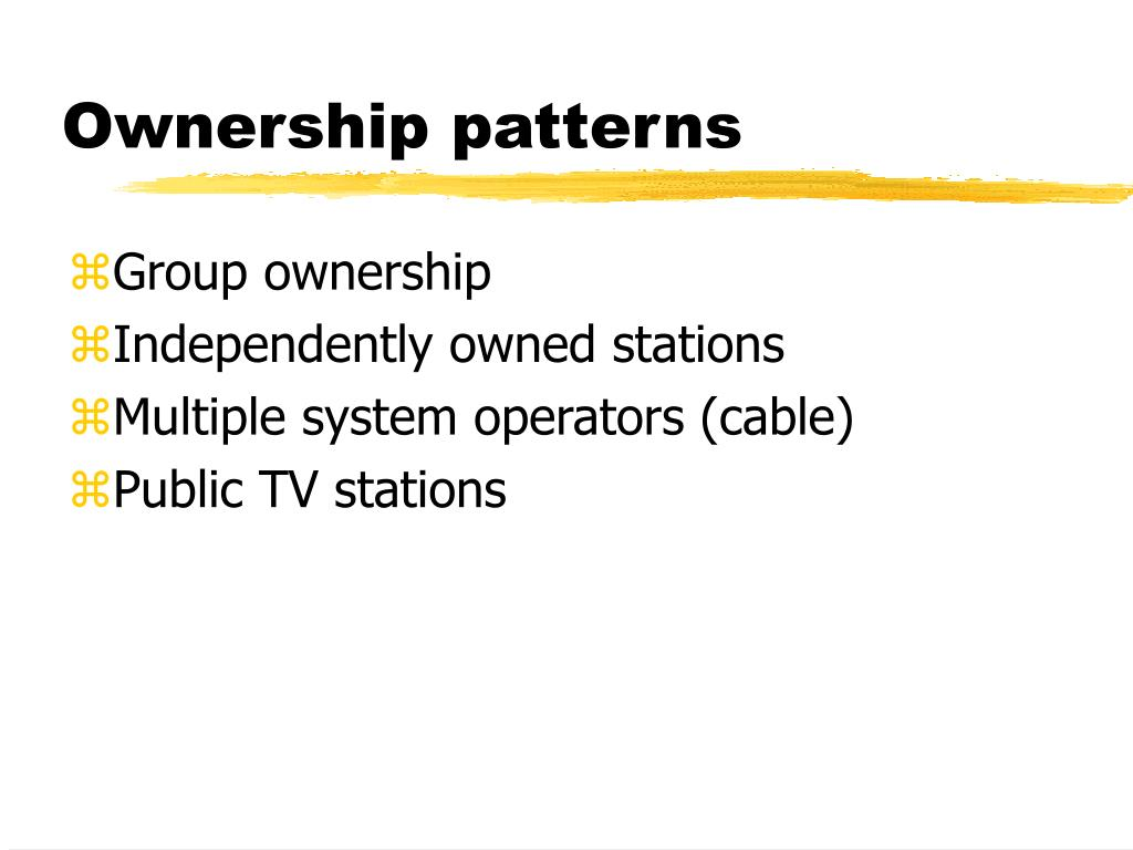 Ownership patterns