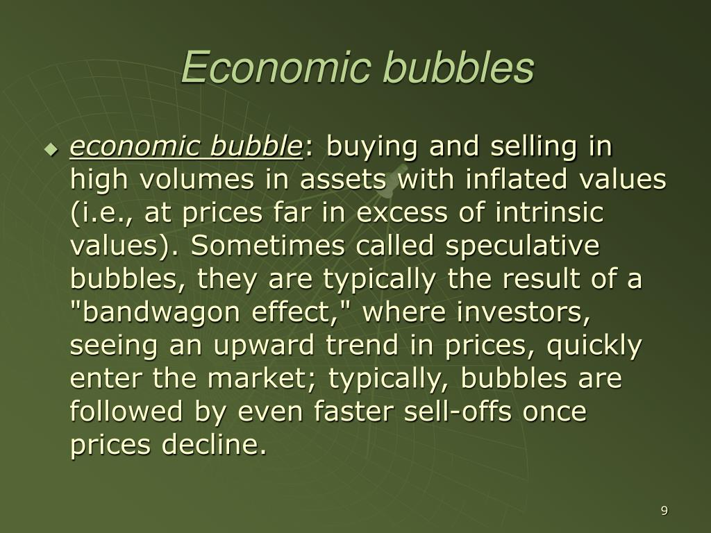 Economic bubbles
