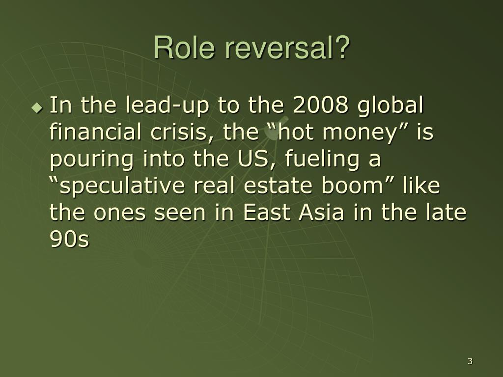 Role reversal?