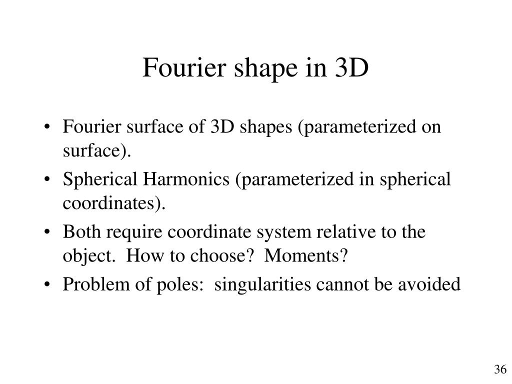 Fourier shape in 3D