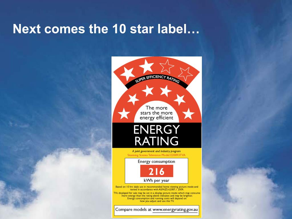 Next comes the 10 star label…