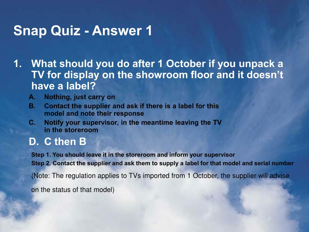 Snap Quiz - Answer 1