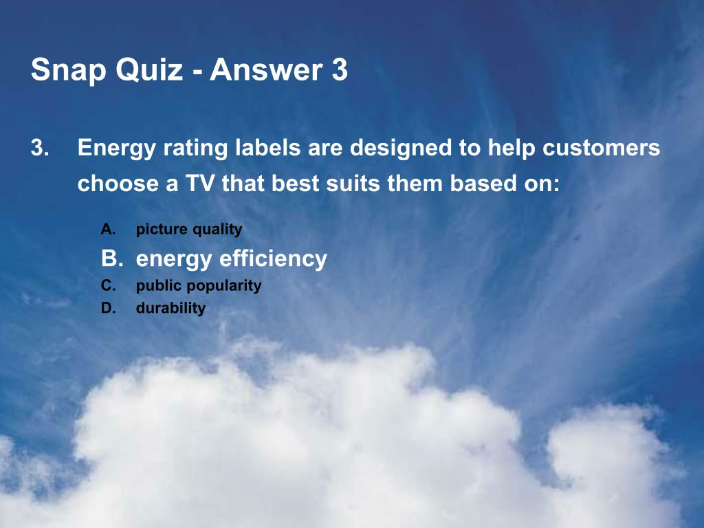 Snap Quiz - Answer 3