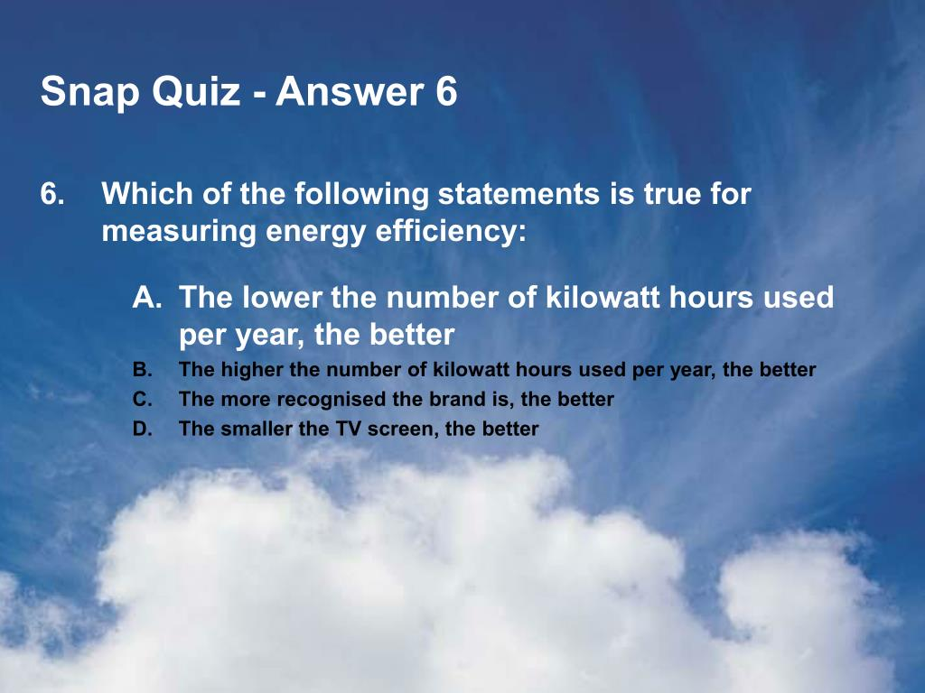 Snap Quiz - Answer 6