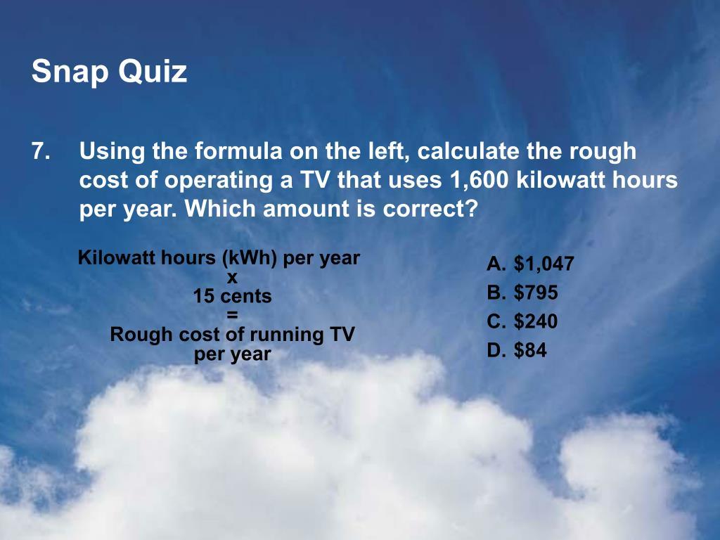 Snap Quiz