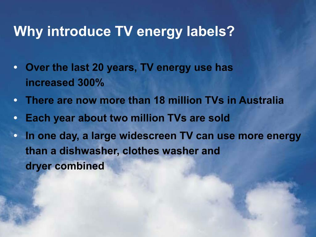 Why introduce TV energy labels?