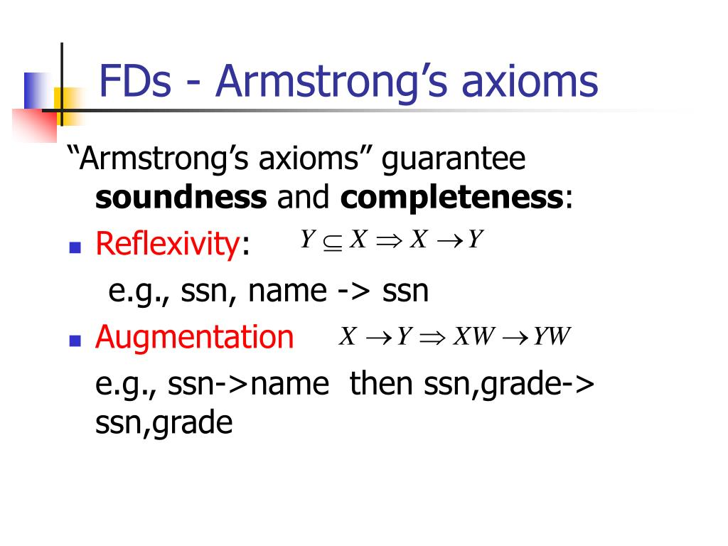 FDs - Armstrong's axioms