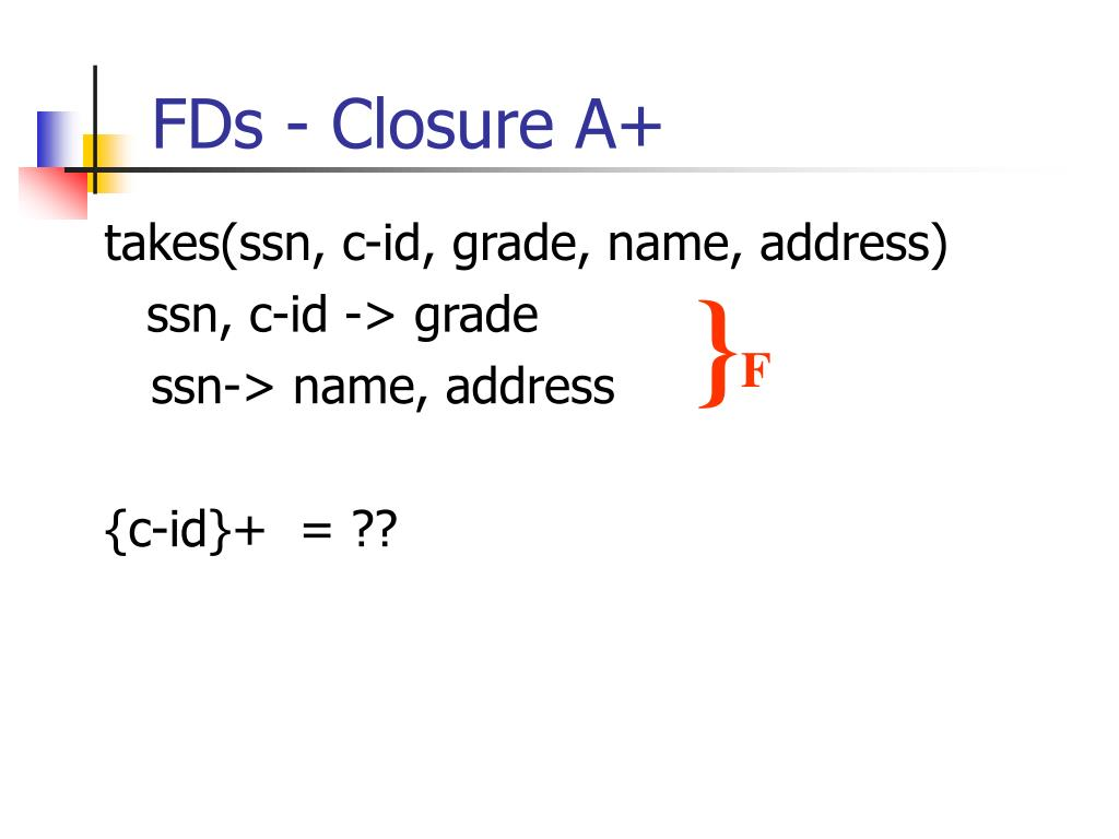 FDs - Closure A+