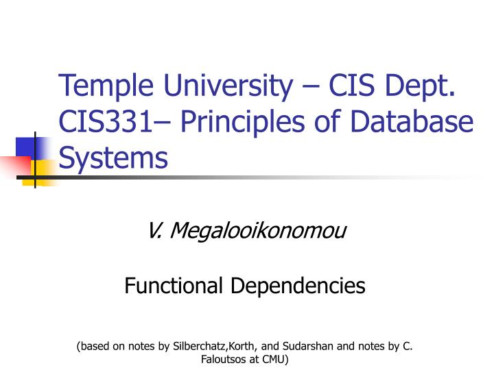 Temple university cis dept cis331 principles of database systems l.jpg