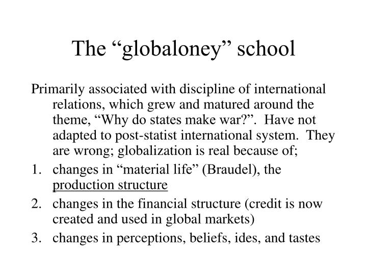 The globaloney school
