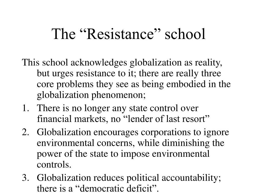 "The ""Resistance"" school"