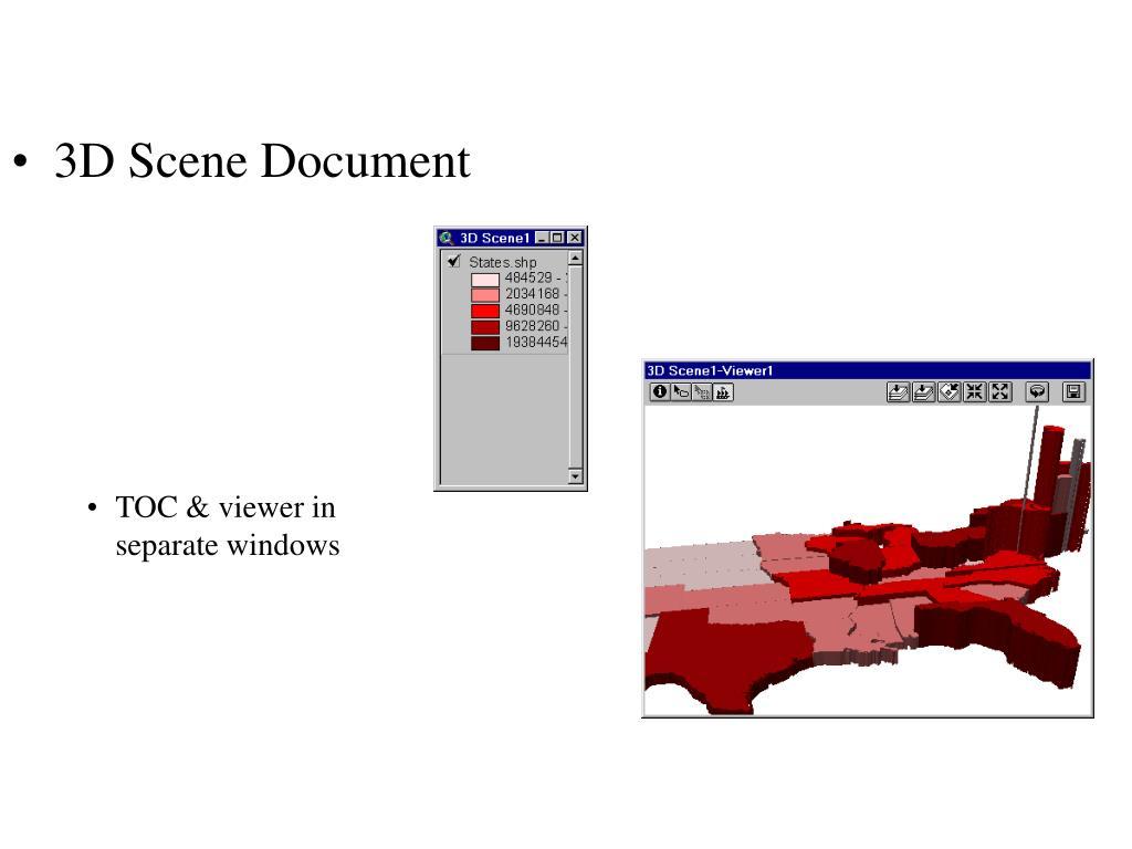 3D Scene Document