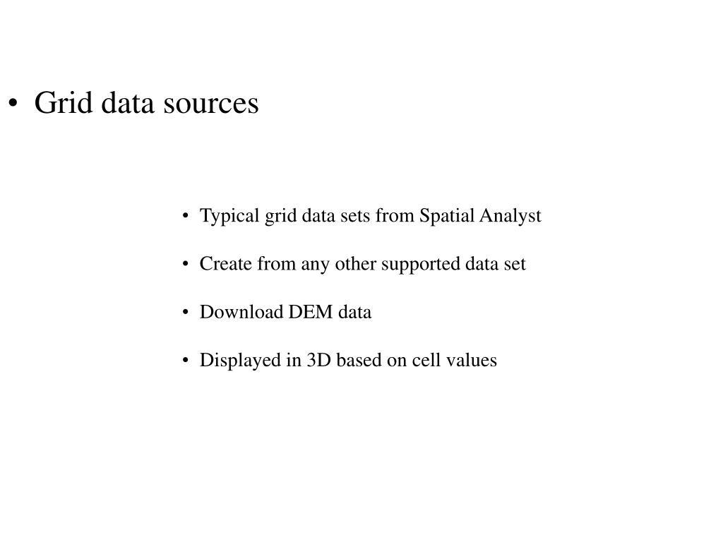 Grid data sources