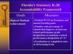 florida s statutory k 20 accountability framework