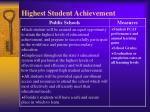 highest student achievement